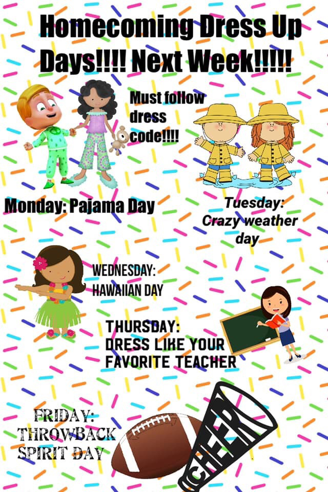 Homecoming Spirit Week!
